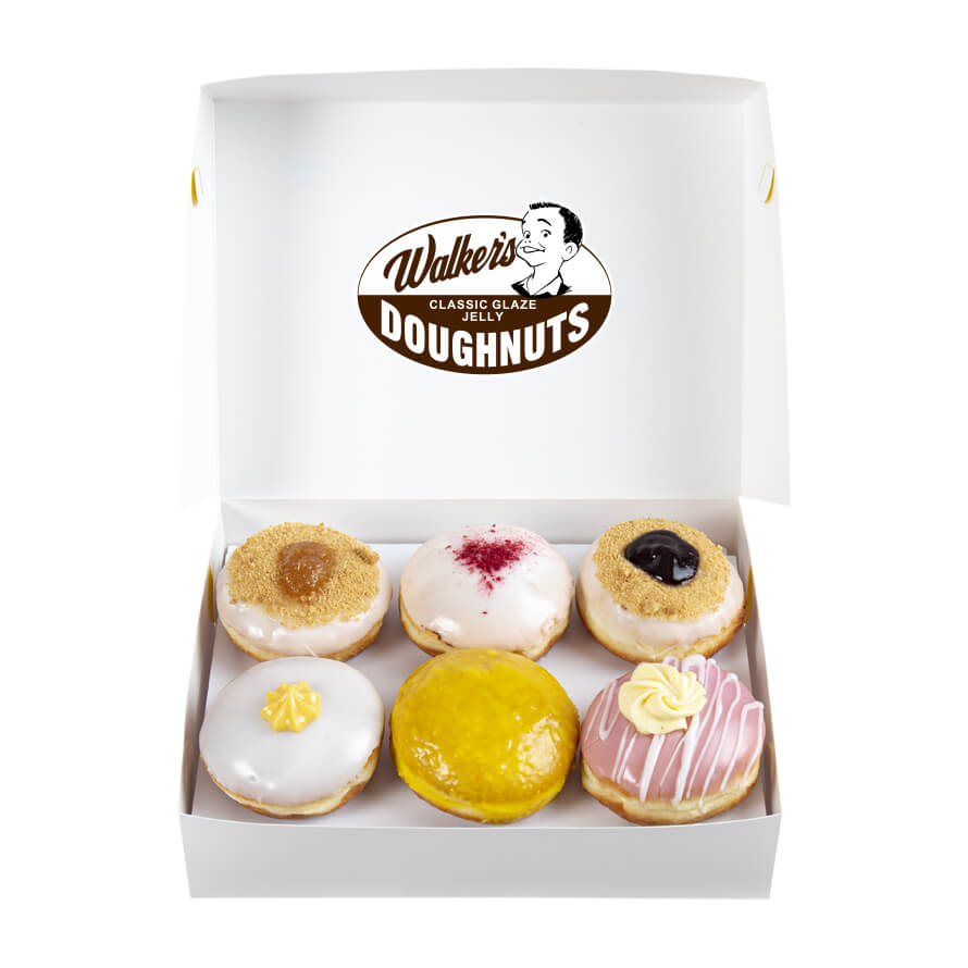 photo of walkers doughnuts custard sampler box